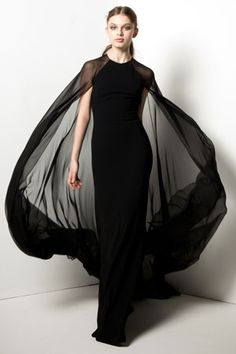 Reem Acra dress with cape