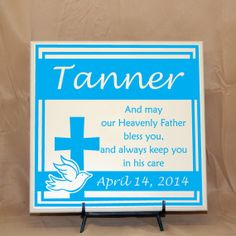 First Communion Gift or Baptism Gift And May Our by LEVinyl, $35.00