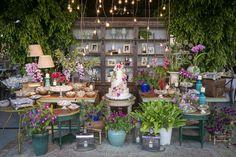 Mesa de doces  - Casamento no Campo