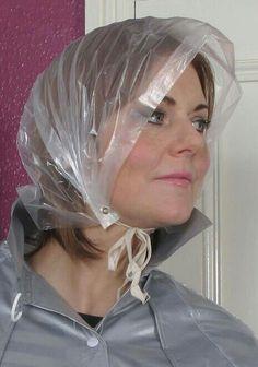 61 Best Plastic Rain Hoods Images Rain Bonnet Rain Wear