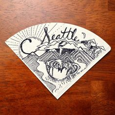 Coffee-Themed Drawings on Coffee Filters by Ben Blake