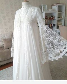 Image may contain: one or more people – Wedding Dresses Muslim Wedding Gown, Muslimah Wedding Dress, Hijab Wedding Dresses, Muslim Dress, Bridal Outfits, Modest Dresses, Bridal Dresses, Dress Outfits, Wedding Gowns