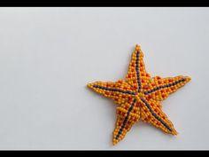 Морская звезда из бисера.