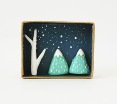 3D shadow box scene - Miniature landscape                                                                                                                                                                                 More