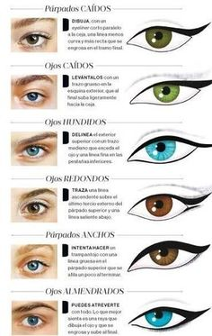 Eyeliner according to your type . by janice- Delineado de ojos segun su tipo. by janice Eyeliner according to your type . by janice – # eyes - Makeup Hacks, Makeup Inspo, Makeup Art, Makeup Inspiration, Makeup Tips, Beauty Makeup, Hair Makeup, Doll Eye Makeup, Eye Makeup Steps