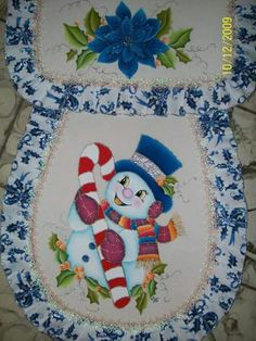 Snowman Christmas Bathroom Sets, Ribbon Embroidery, Snowman, Decorative Plates, Christmas Decorations, Lily, Tableware, Home Decor, Dish Towels