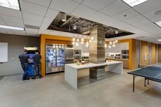 Mirth Headquarters | Lunch Room | Break Room | Corporate Interiors by H.Hendy Associates