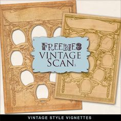 Far Far Hill: FREE Vintage Style Vignettes...could be used to make a family tree...put photos in outside ovals and names and relationships in inside ovals.