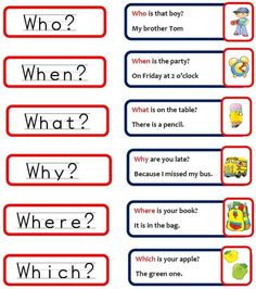 questions words in english - Pesquisa Google