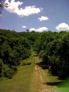 mucho verde y cielo azul en San Bernardino, Paraguay