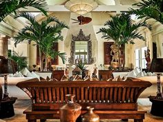 Tropical luxury awaits in the Bahamas West Indies Decor, West Indies Style, British West Indies, Tropical Style, Tropical Decor, Tropical Colors, Modern Tropical, British Colonial Decor, Deco Restaurant