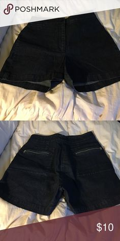 """Halogen Denim Shorts Denim but more of a dressier lighter weight. Back zipper detail. Bundle 2+ for 10% off purchase. Submit offers through the blue """"offer button"""". 1-2 day shipping. Halogen Shorts"""