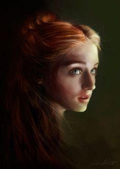 Sansa Stark Portrait 20 Fantastic and Funny Examples of Game of Thrones Fan Art - My Modern Met Sansa Stark, Eddard Stark, Cersei Lannister, Jaime Lannister, Daenerys Targaryen, Art Game Of Thrones, Game Of Thrones Sansa, Fan Art, Game Of Thrones Illustrations