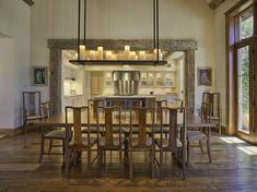 table rustique pour salle à manger de design rustique