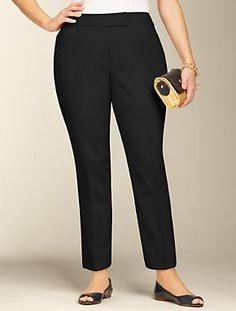 Talbots - Curvy Fit Double-Weave Ankle Pants | Woman | Woman $54 marked down