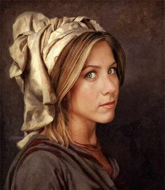 Jennifer Aniston. | 35 Celebrities As Classic Paintings