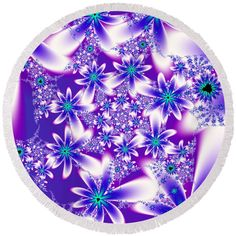 Purple Fractal Flower Pattern created by Tracey Lee Art Designs. Available on many products. Fractal Images, Fractal Art, Fractals, Pretty Flowers, Purple Flowers, Animal Print Wallpaper, Shabby, Fractal Design, Landscape Artwork
