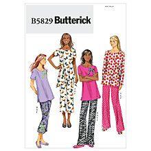Buy Butterick Women's Sleepwear Top Trousers & Slippers Sewing Pattern, 5829 Online at johnlewis.com