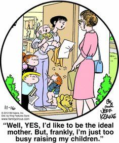 Family Circus Cartoon for Nov/16/2012