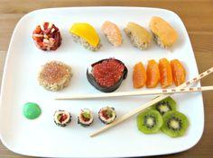 Fruit sushi = FRUSHI. Curious to taste some.