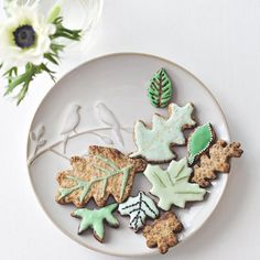 Des biscuits feuilles à croquer