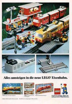 Lego Train Station, Lego City Train, Lego Trains, Classic Lego, Lego Ship, Lego Modular, Vintage Lego, Lego Toys, Lego Worlds