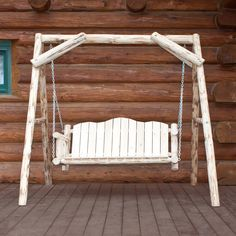 Montana Woodworks 2-seat Wood Rustic Porch Swing Mwls