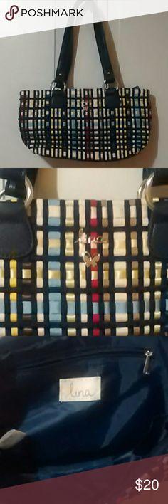 Lina Handbag New bag Lina brand. Adorable has zipper pocket inside and three compartments. Lina Bags Satchels