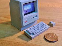 Mini Apple Macintosh by RabbitEngineering - Thingiverse