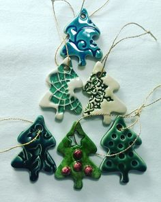 Hand made ceramics for Christmas / Özlem Menekay