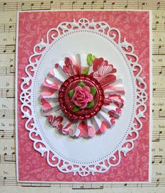Ann Greenspan's Crafts: Cards with Bottle Cap Embellishments