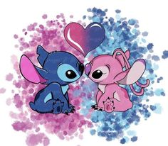 Disney Phone Wallpaper, Cartoon Wallpaper Iphone, Cute Cartoon Wallpapers, Cute Disney Drawings, Cute Drawings, Lilo And Stitch Drawings, Stitch And Angel, Cute Stitch, Pinturas Disney