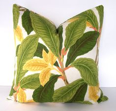 Tropical Decorative Pillow Cove  ResortPalm  Leaves  by Loubella1, $40.00