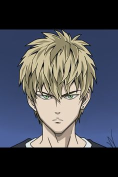 Genos looking like a human.He's still hot but he look more hot as a robot