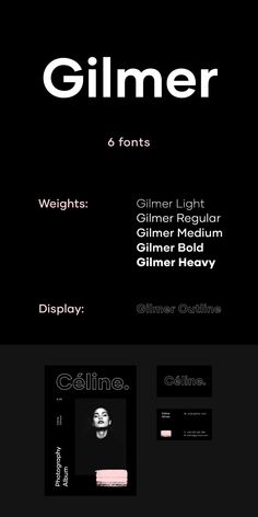 Gilmer is a fresh, geometric, sans-serif font family inspired by the iconic typefaces like Futura and Avant Garde. Free Fonts Sans Serif, Modern Sans Serif Fonts, Sans Serif Typeface, Modern Fonts, Font Logo, Cursive Fonts, Font Free, Graphic Design Fonts, Web Design