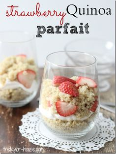 Strawberry Quinoa Parfait - yummy healthy option for snack!