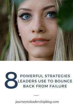 8 Powerful Strategies Leaders Use To Bounce Back From Failure #failure #success #leadership #leadershipdevelopment #journeytoleadership journeytoleadershipblog.com/ Your Strengths And Weaknesses, Women In Leadership, Passion Project, Leadership Development, Pinterest Blog, Career Advice, Job Search, Bellisima, Things That Bounce