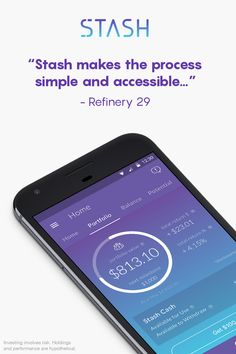 Download Stash to start investing. All you need is $5.