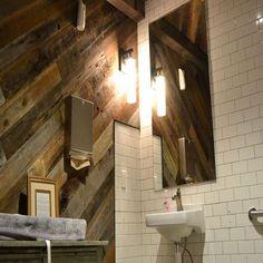 Ex Novo - Good Neighbor Weathered Redwood Reclaimed Wood Wall Panels, Wood Panel Walls, Good Neighbor, Barn Wood, Home Remodeling, Fireplace Ideas, Interior, House, Furniture