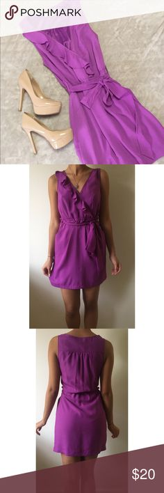 💐Forever 21 dress Feminine purple dress with front ruffles, and waist belt. Perfect for Sunday brunch, or casual events 🌸💐 Forever 21 Dresses