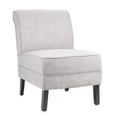 Nydelig liten stol i grå lin. Passer perfekt til et stuehjørne, en gang eller et gjeste / soverom. Finnes også i lys lin. Mål: Høyde: 73 cm Bredde: 54 cm Dybde: 70 cm. For mer info og bestilling: www.krogh-design.no