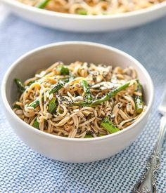 Recipe: Miso-Roasted Asparagus Soba Noodle Salad | Kitchn