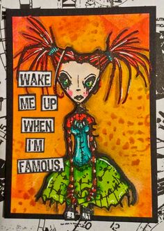 Artwork created by Tera Callihan using rubber stamps designed by Daniel Torrente for Stampotique Originals
