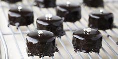 Chocolate Glazed Petit Fours