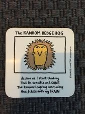 The Random Hedgehog - Edward Monkton coaster