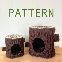 Crochet Tree, Knit Crochet, Crochet Patterns Amigurumi, Crochet Hooks, Knitting Projects, Crochet Projects, Crochet Rabbit, Crochet Cat Beds, Guinea Pig Bedding