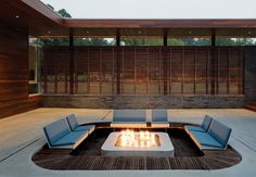 Hufft Projects carves out a sunken seating area in  an outdoor scheme designed for entertaining.