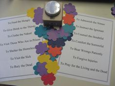 A slowly flowering cross with acts of love and mercy through the season of Lent. An easily adaptable idea for family or class or congregation.