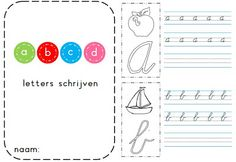 Juf Shanna: Boekje: letters schrijven voor groep 3 Pre Writing, Teaching Writing, Writing Skills, Kids Learning Activities, Best Teacher, Elementary Schools, Back To School, Classroom, Bloom