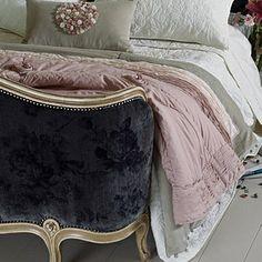 Pale Taupe Velvet Quilt | Primrose & Plum
